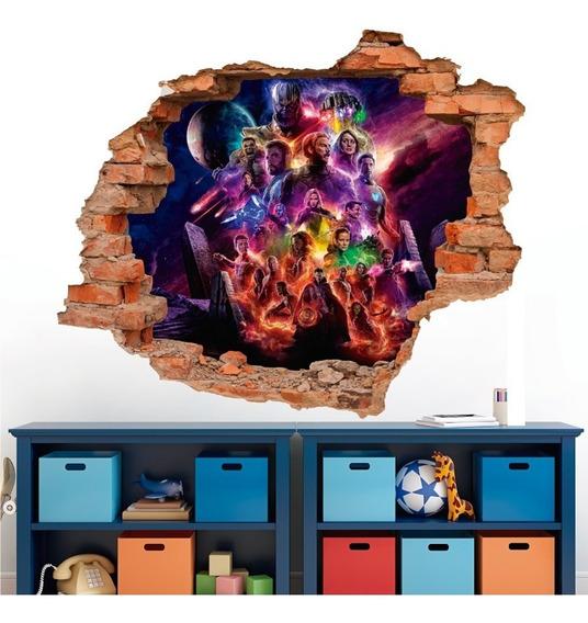 Vinilo Decorativo, Avengers Endgame Muro Roto -67