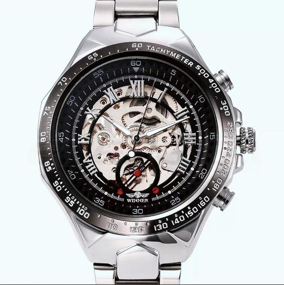 Promoção Relógio Esqueleto Mecânico Winner 432 Pulso