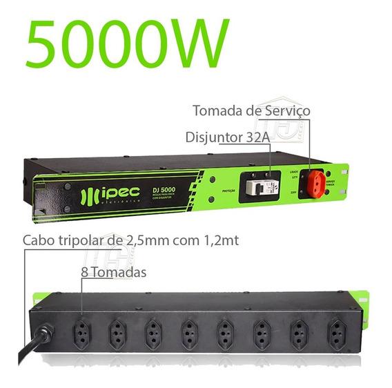 Filtro De Linha Régua De Tomada Dj 5000 Watts De Potência