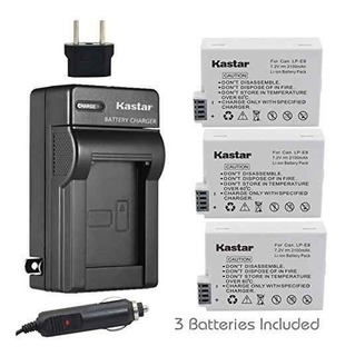 Kastar Battery (3-pack) And Charger Kit For Canon Lp-e8,