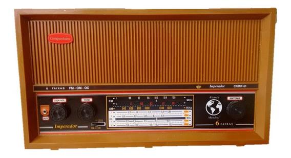 Radio Retro Marrom Gabinete Madeira Ondas Curtas Fm Am E Oc