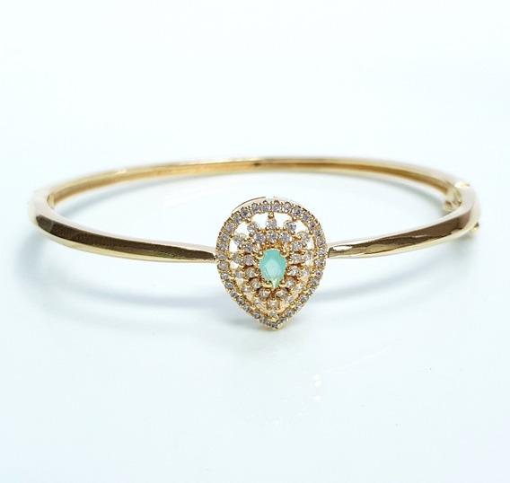 Bracelete Feminino Pulseira Gota Luxo Banhado Ouro 18k