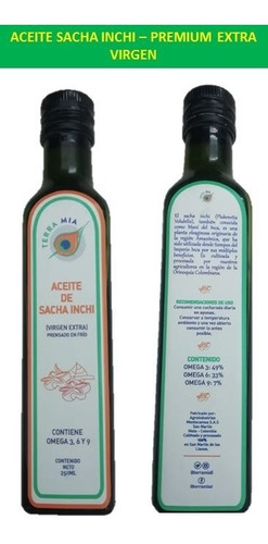 Aceite Sacha Inchi  Extra Virgen - L A $ - L a $195
