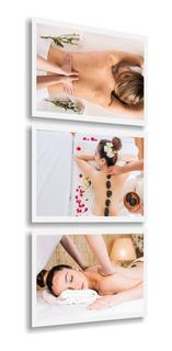 Quadro Decorativo Clínica De Spa Estética Massagem Relaxante