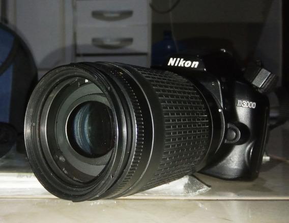 Camera Nikon D3000 + Lente 18-55 + Lente 70-300+ Kit