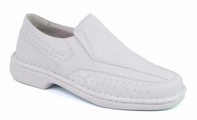 49a4b236e Sapato Social Branco Masculino Leve Dentista Médico · Sapato Masculino Anti  Stress Em Couro Indicado P/diabético