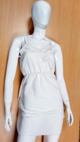 Pack Mayorista X10 Vestido Dama D Tela Creep Moderno Blanco