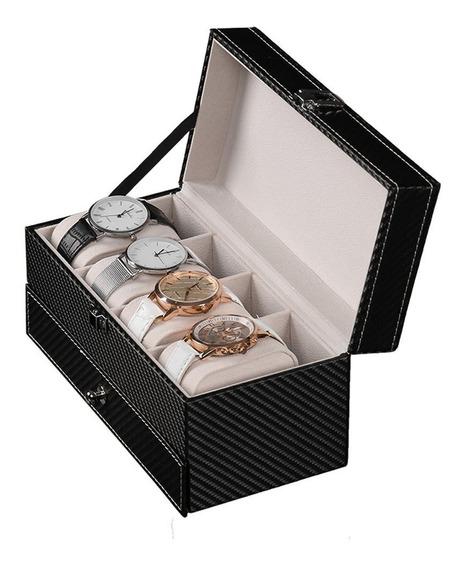 Joyero Relojero Organizador Estuche Nuevo Diseño 2 Niveles