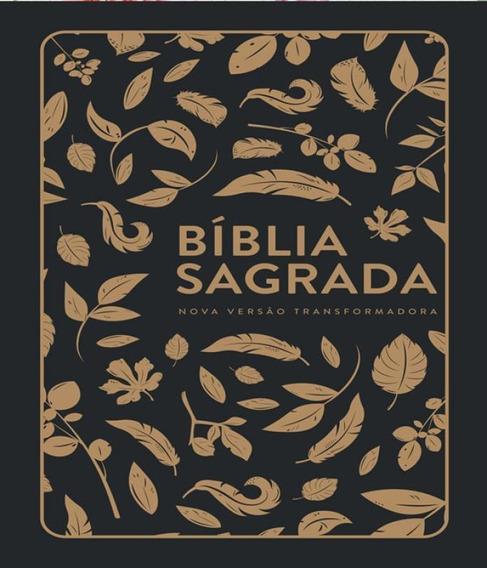 Biblia Nvt LG St - Folhas Douradas