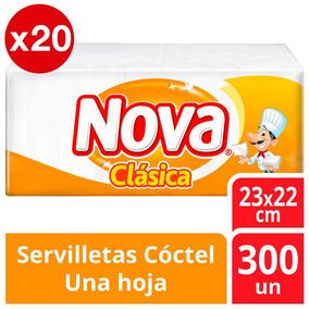 Servilleta Nova Clásica Cóctel Pack X20 6000u Tienda Oficial