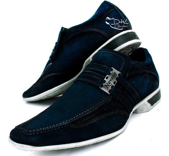 Sapato Social Masculino Nobuck Casual Sofisticado Promoção