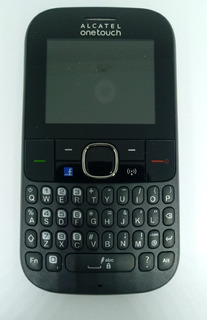 1° Celular Alcatel 3075m Preto C/ Avaria S/ Garantia