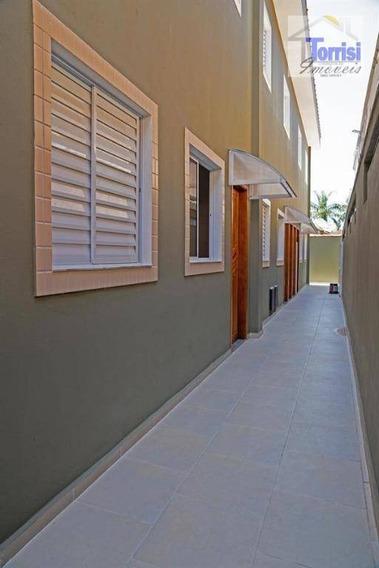 Casa De Condomínio Terreá Em Praia Grande, 02 Dormitórios, Samambaia, Ca0166 - Ca0166