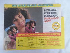 Propaganda Antiga Envelope Revelação Fotoptica Kodak Anos 80
