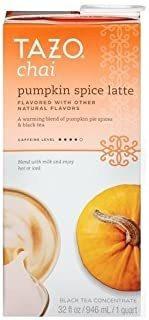 Concentrado De Té Tazo Pumpkin Spice Chai Latte, 32 Oz