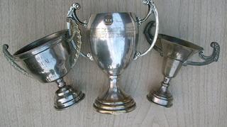 Lote De Tres Antiguos Trofeos Copas
