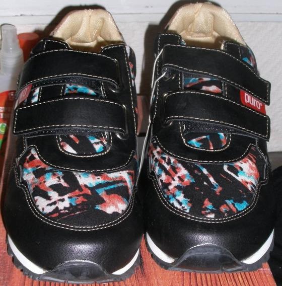 Zapatillas Mash Turin Negra. N° 41. Marca: Puro