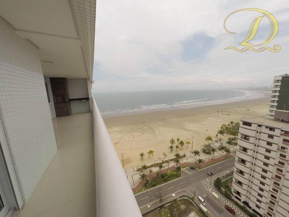 Apartamento À Venda Em Praia Grande No Forte De 3 Suítes Frente Ao Mar De Alto Padrão!!! - Ap1834