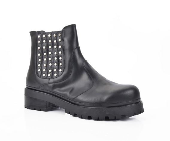 Botineta Plataforma Tachas Mujer Calzado Dama Riot Zapatos