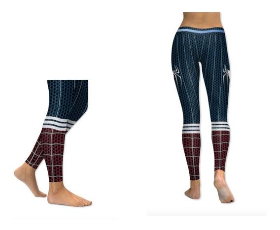 Leggings Del Superheroe Spiderman Para Mujer Deportivo Xtr C