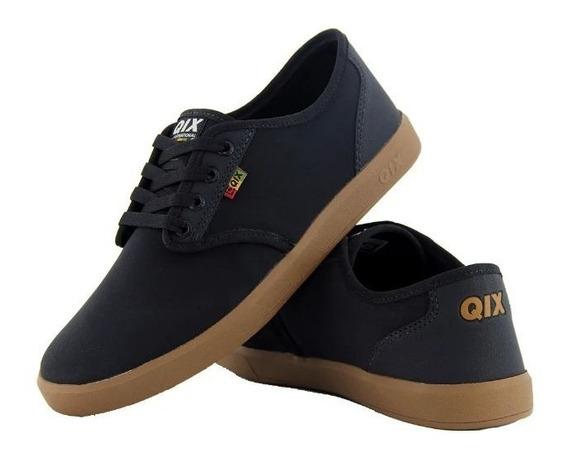 Tênis Qix Original New Nb Roots Preto Skate Casual Reggae