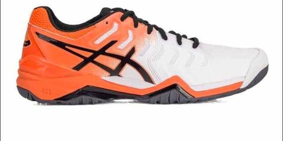 Tênis Asics Gel Resolution 7 All Court - Laranja/branco 39