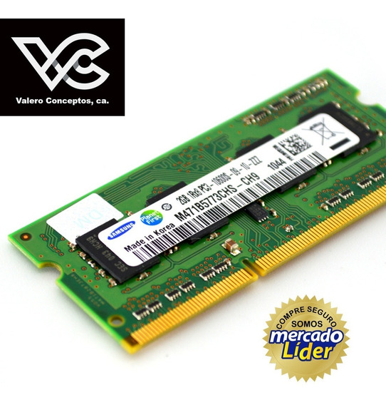 Memoria Ram Ddr3 2gb. 1600 Mhz Laptop Samsung Crucial