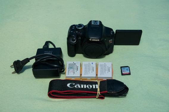 Câmera Fotográfica Canon T3i +3 Baterias+cartão 16gb