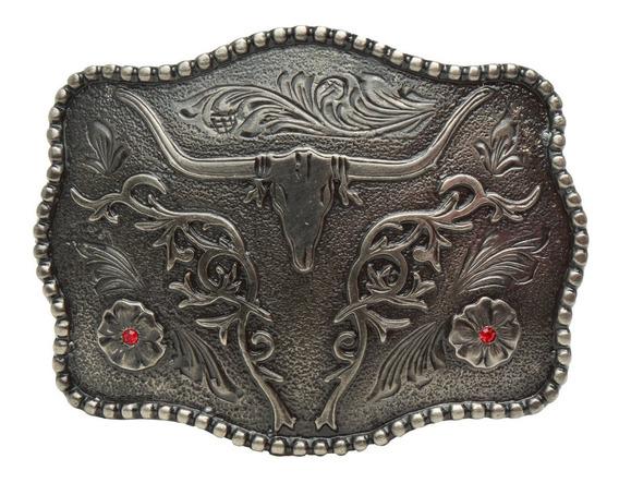 Botas Bonarty Hebilla de Cintur/ón Vaquero Occidental Retro Hebilla Met/álico para Cintur/ón Bricolaje Accesorios de Ropas para Hombres