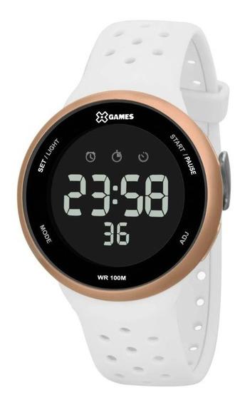 Relógio X-games Digital Branco E Rose Xfppd059