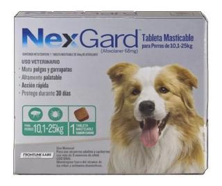Comprimido Anti Pulgas Garrapatas Nexgard Perro 10,1 A 25 Kg