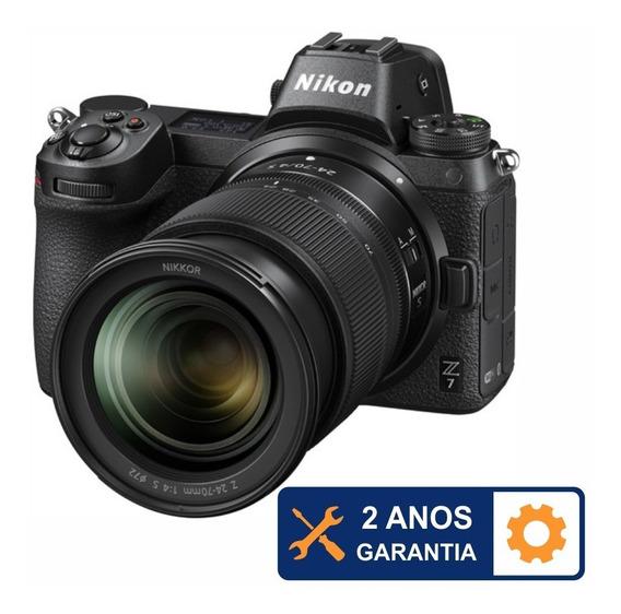 Nikon Z7 Mirrorless 4k 45.7mp + 24-70mm F/4 S - Temos Loja