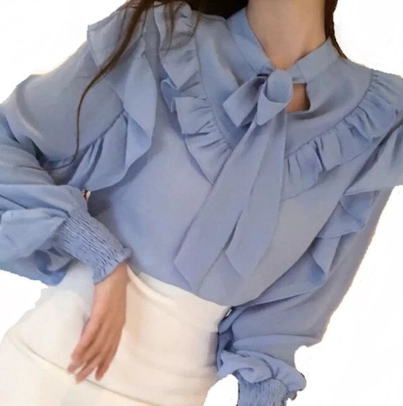 Blusa Camisa Feminina Social Renda Tule De Luxo Foto Real