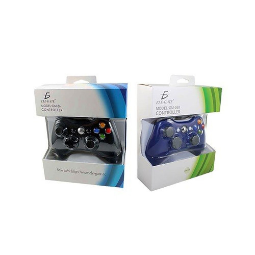 Imagen 1 de 5 de Control Gamepad Xbox 360 Alambrico Usb Pc Windows10 Ele-gate