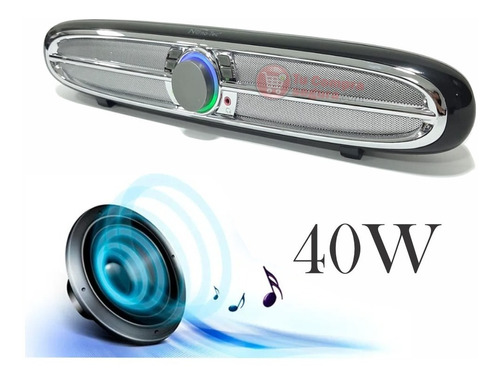 Parlante Barra Bluetooth Luces Led 40w Extra Bass Usb Sd Aux