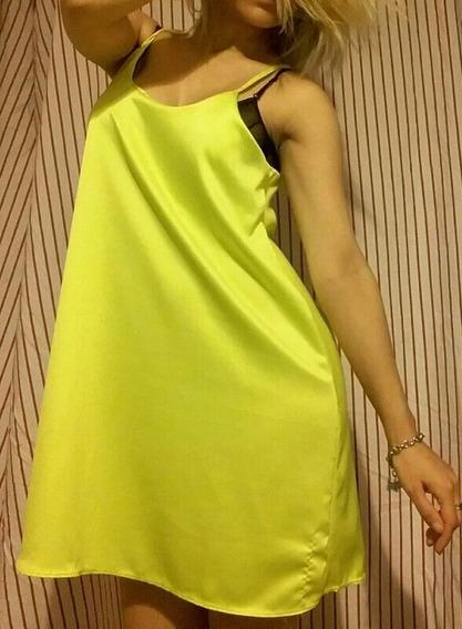 Vestido Amarillo Fluo No Zara