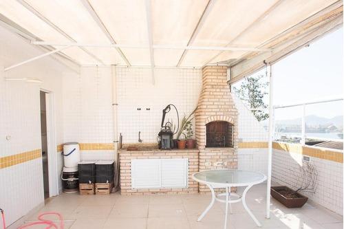 Imagem 1 de 24 de Cobertura Com 2 Dormitórios À Venda, 130 M² Por R$ 585.000,00 - Ponta Da Praia - Santos/sp - Co0042