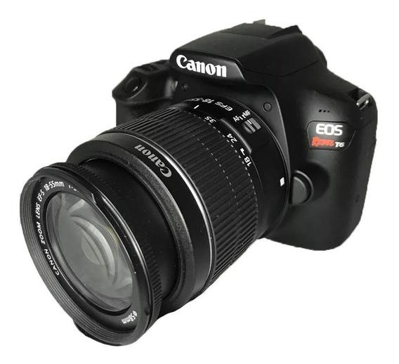 Câmera Canon T6 + Lente 18-55mm + Lente 70-300, + Sd 16gb