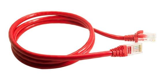 Combo 20 Un. Cabo Ethernet Roteador Wi-fi Cat6 Vermelho 40cm