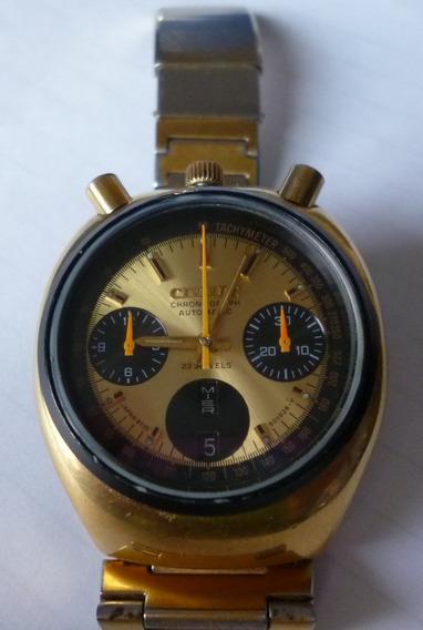 Reloj Citizen Bull Head Dorado Vintage Automático Excelente