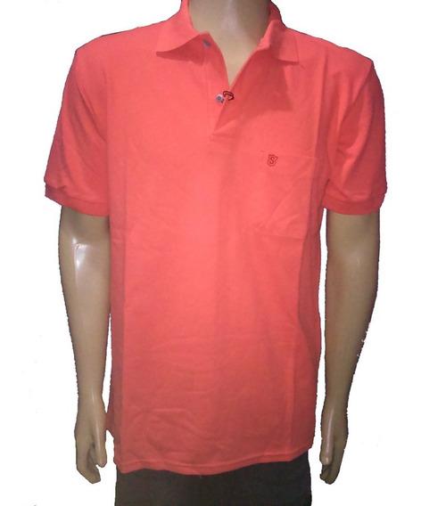 Camiseta Gola Polo Masculina Lisa 100% Algodão