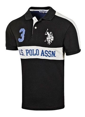 Playera Casual Caballero Polo Assn Mu3014217 Negro 74979 T2