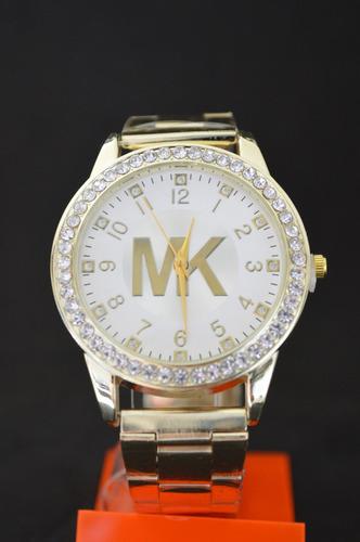 Reloj De Metal Mk Dorado Y Plata