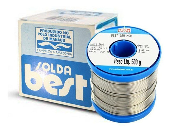 Rolo Carretel Solda Best 500 Gramas 1mm - Azul Sn60% Pb40%