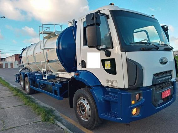 Caminhão Limpa Fossa Ford Cargo 2423 Ano 2014/2014