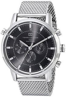 Reloj Tommy Hilfiger De Acero Inoxidable Con Tono Plateado