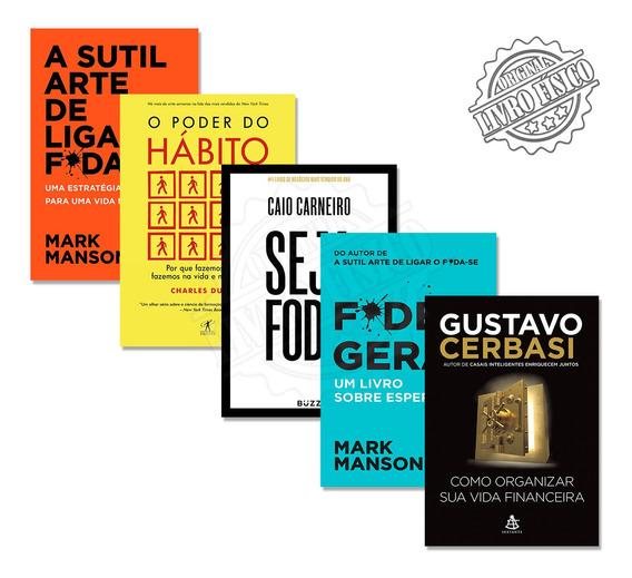 5 Livros Desenvolvimento Pessoal Sucesso Educação Financeira