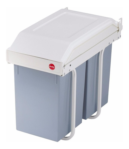 Cubo Cesto Residuos Hailo Multibox Duo L 2x14 L. Extraible