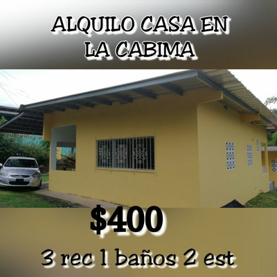 Alquilo Casa Bonita En La Cabima $400 Dolares El Alquiler