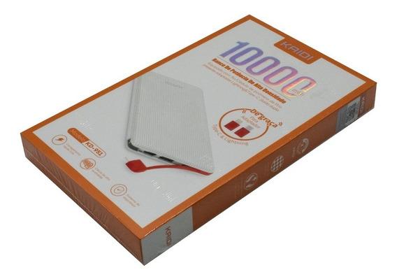 Carregador Portátil Kaidi Power Bank Kd-951 10000mah Branco